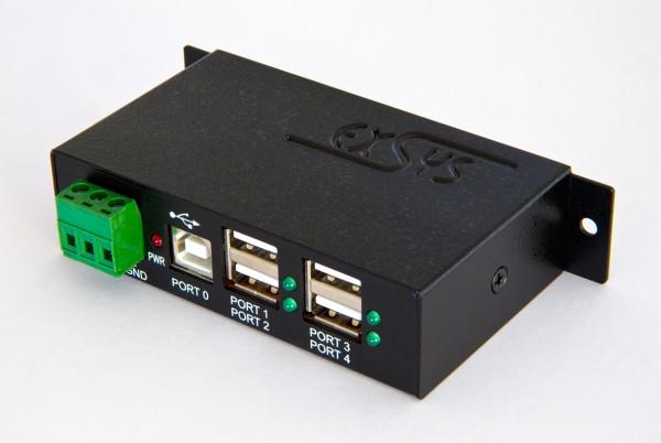 4 Port USB 2.0 Metall-HUB, inkl. DIN-RAIL Kit